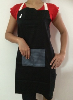 Black Wash and Wear Apron
