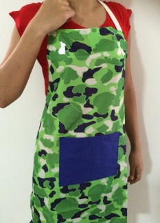 Blue & Green Camouflage Wash and Wear Apron