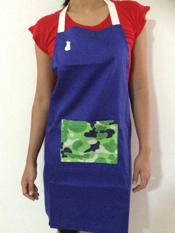 Blue Wash and Wear Apron