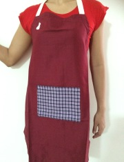 Maroon Wash and Wear Apron